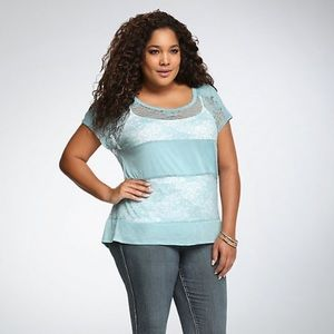 Torrid Lace Panel Dolman Top